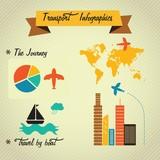 Fototapety Transport Infographics
