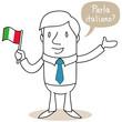 Geschäftsmann, italienisch, Parla italiano