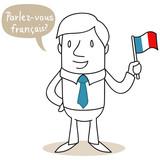 Fototapety Geschäftsmann, französisch, Parlez-vous français