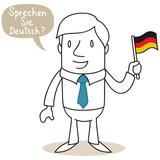 Fototapety Geschäftsmann, Sprechen Sie Deutsch