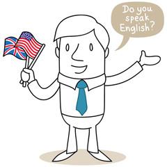 Geschäftsmann, englisch, Do you speak English
