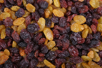 Raisins texture background