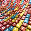 Stream of bits - Big data concept