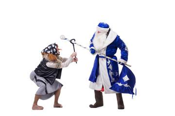 Angry Baba Yaga and Father Christmas