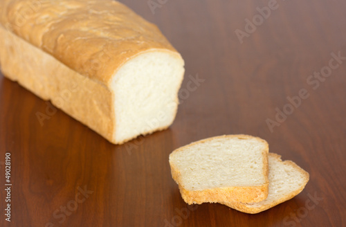 Fresh Baked Amish Bread on a table