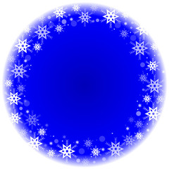 Vector winter frame with snowflakes