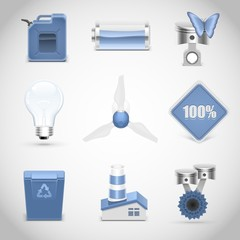 ecology vector icon set