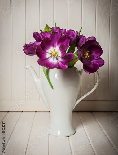 tulips - old  style of photography