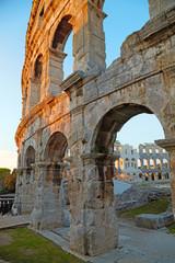 Ancient Roman Amphitheater. Pula, Croatia