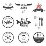 Fototapety Restaurant menu design elements set