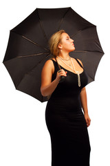 Pretty woman with umbrella