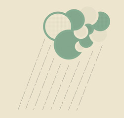 cloud and rain abstract graphic symbol