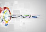 Fototapeta cząsteczka - dane - Sztuczne
