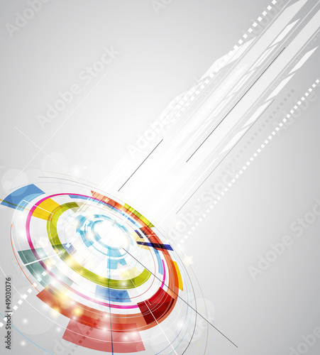 abstract blur ray computer technology business banner background