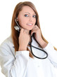 Smiling medical cardiologist with stethoscope