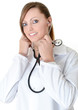 cute female doctor with stethoscope