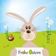Frohe Ostern - Osterhase - Osternest
