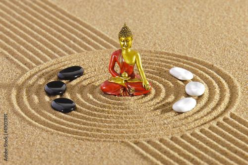 Zen Garten mit Buddha