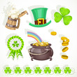 Saint patrick`s day elements set for design