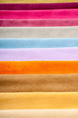 Colorful fabric swatches