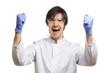 Ein überaus erfolgreicher Wissenschaftler feiert seinen Erfolg