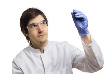 Dieser Wissenschaftler schreibt etwas