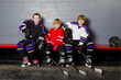 Youth Hockey Players in Dressing Room