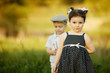 little funny girl and boy