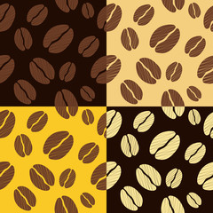 coffee beans seamless pattern background pattern vector illustra