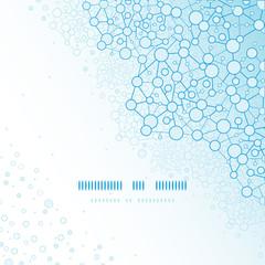 vector molecular structure scientific square template background