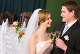 Toasting bride and groom