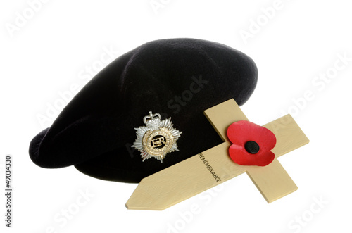 Poppy on Cross with beret