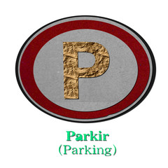 Parking-recycled-made-from-paper