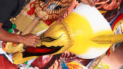 hand make thai mask