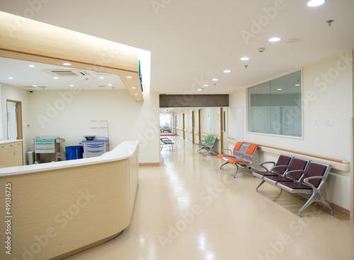 Leinwanddruck Bild Empty nurses station