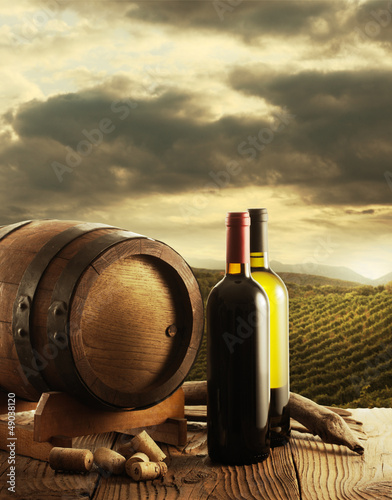 Wine and vineyard © stokkete