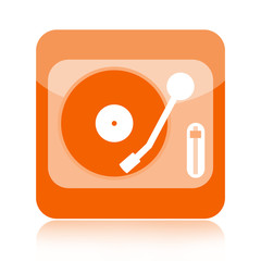 Vinyl player audio icon