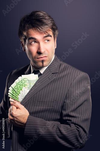 Korrupter Geschäftsmann