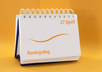 kalender met 27 April koningsdag