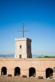 Big tower of Castle of Montjuic, Barcelona, Spain poster