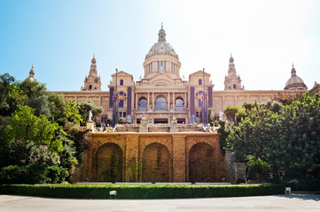 national palace of Catalonia in Barcelona