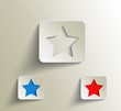 vector peel off star, eps 10
