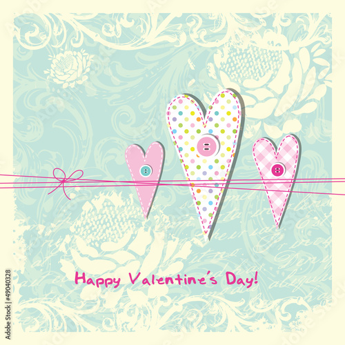 Valentine's card with copy space