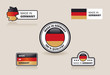 Collection of Made in Germany Labels, Badges and Stickers