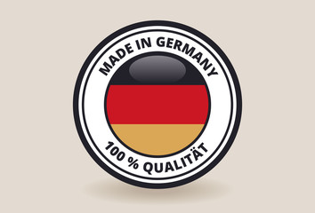Made in Germany Quality Label / Badge / Sticker