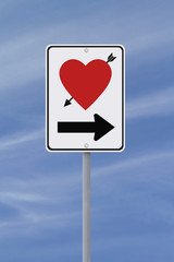 Road Sign on Love