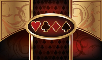 Casino Poker business card, vector illustration