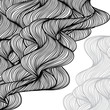Abstract hand-drawn waves background.