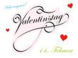Valentinstag, 14. Februar, Nicht vergessen! Design, Text, 2D
