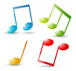 Set of glossy musical icons